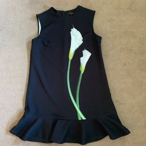 Black dress with Calla lily